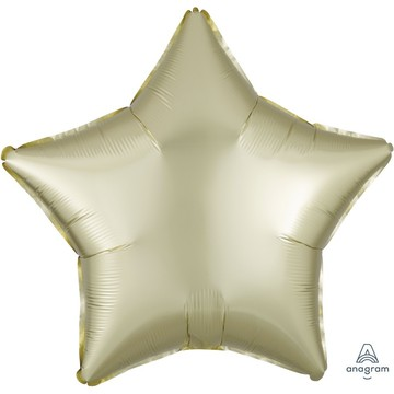 Luxe Sateen 19 Foil Star Balloon - Pastel Yellow