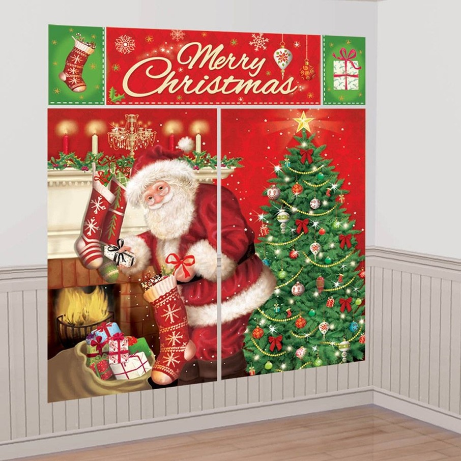 View larger image of Magical Christmas Scene Setter Wall Decorating Kit (Each)