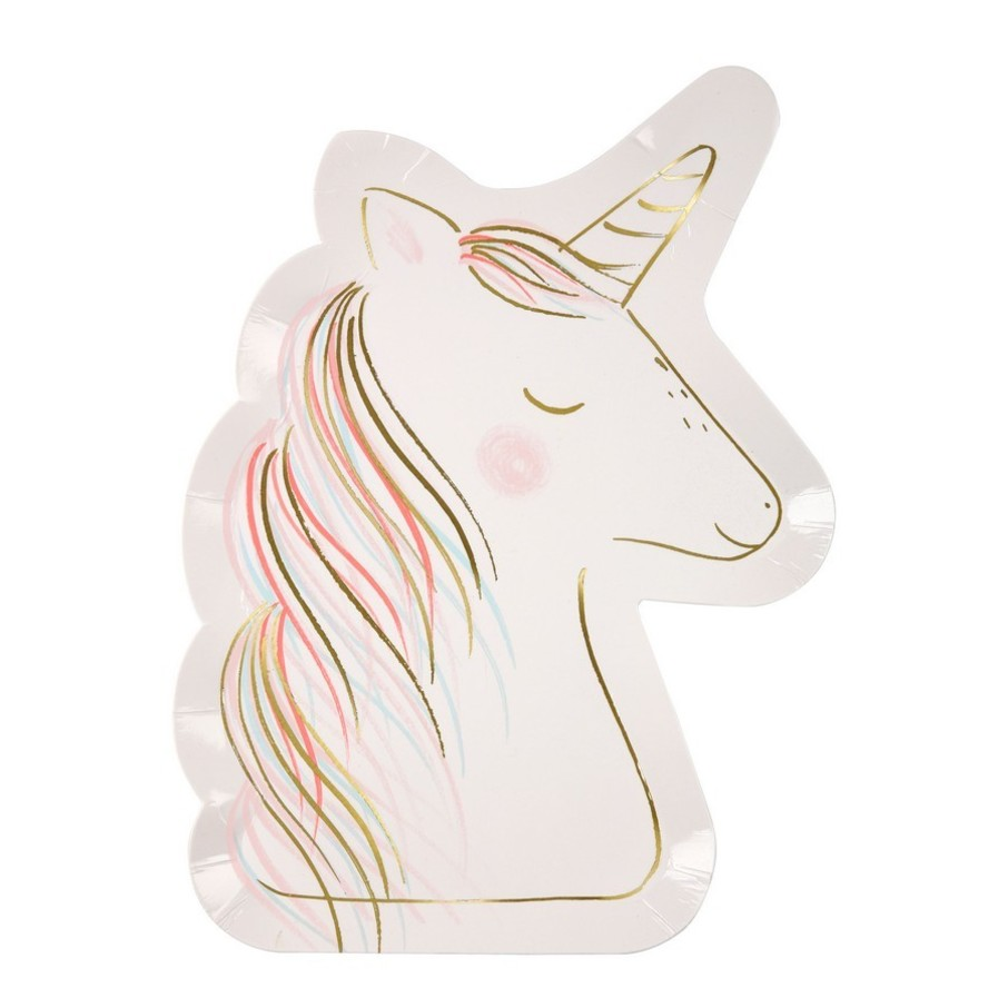 View larger image of Magical Unicorn Shaped Plates, 8ct