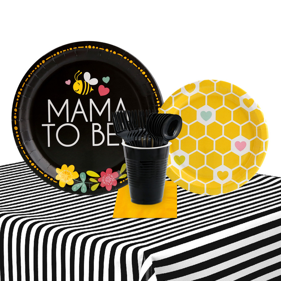 View larger image of Mama To Bee 32 Guest Party Pack