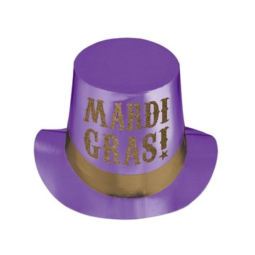 Mardi Gras Foil Party Adult Hat