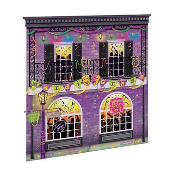 Mardi Gras Scene Setter Wall Decorating Kit