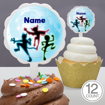 Masked Heroes Personalized Cupcake Picks (12 Count)