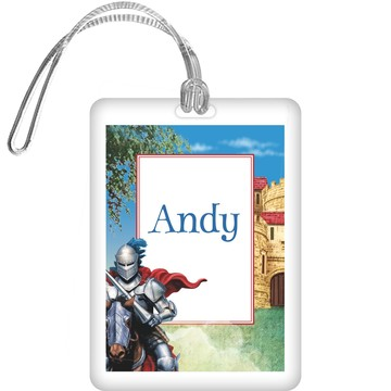 Medieval Knight Personalized Bag Tag (each)