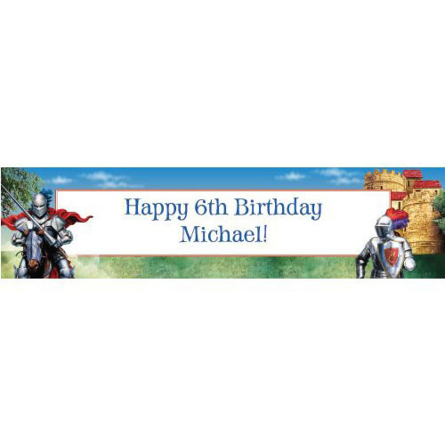 View larger image of Medieval Knight Personalized Banner (each)