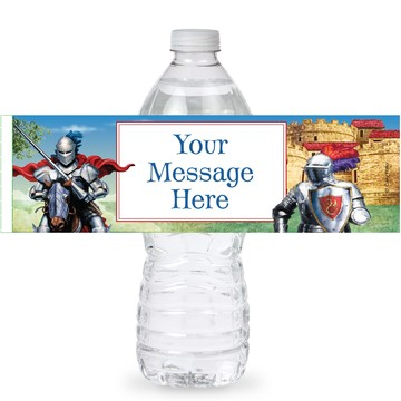 Medieval Knight Personalized Bottle Labels (Sheet of 4)
