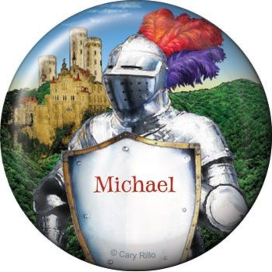 View larger image of Medieval Knight Personalized Button (each)