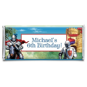 Medieval Knight Personalized Candy Bar Wrapper (Each)