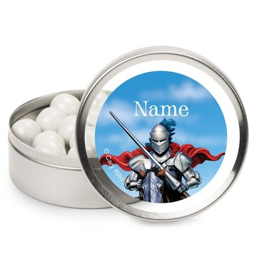 Medieval Knight Personalized Candy Tins (12 Pack)