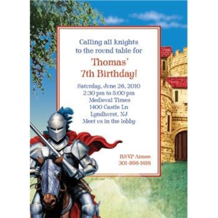 View larger image of Medieval Knight Personalized Invitation (each)
