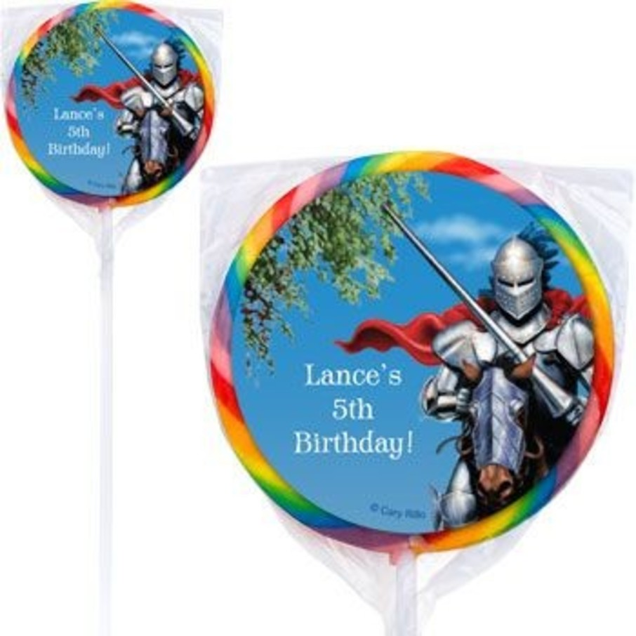 View larger image of Medieval Knight Personalized Lollipops (pack of 12)