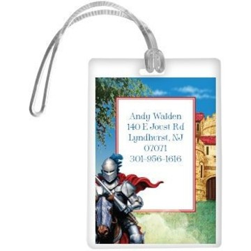 Medieval Knight Personalized Luggage Tag (each)