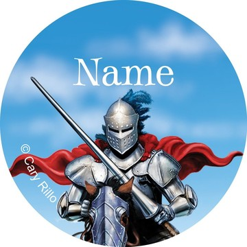 Medieval Knight Personalized Mini Stickers (Sheet of 24)