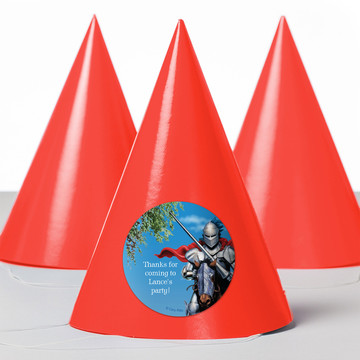 Medieval Knight Personalized Party Hats (8 Count)