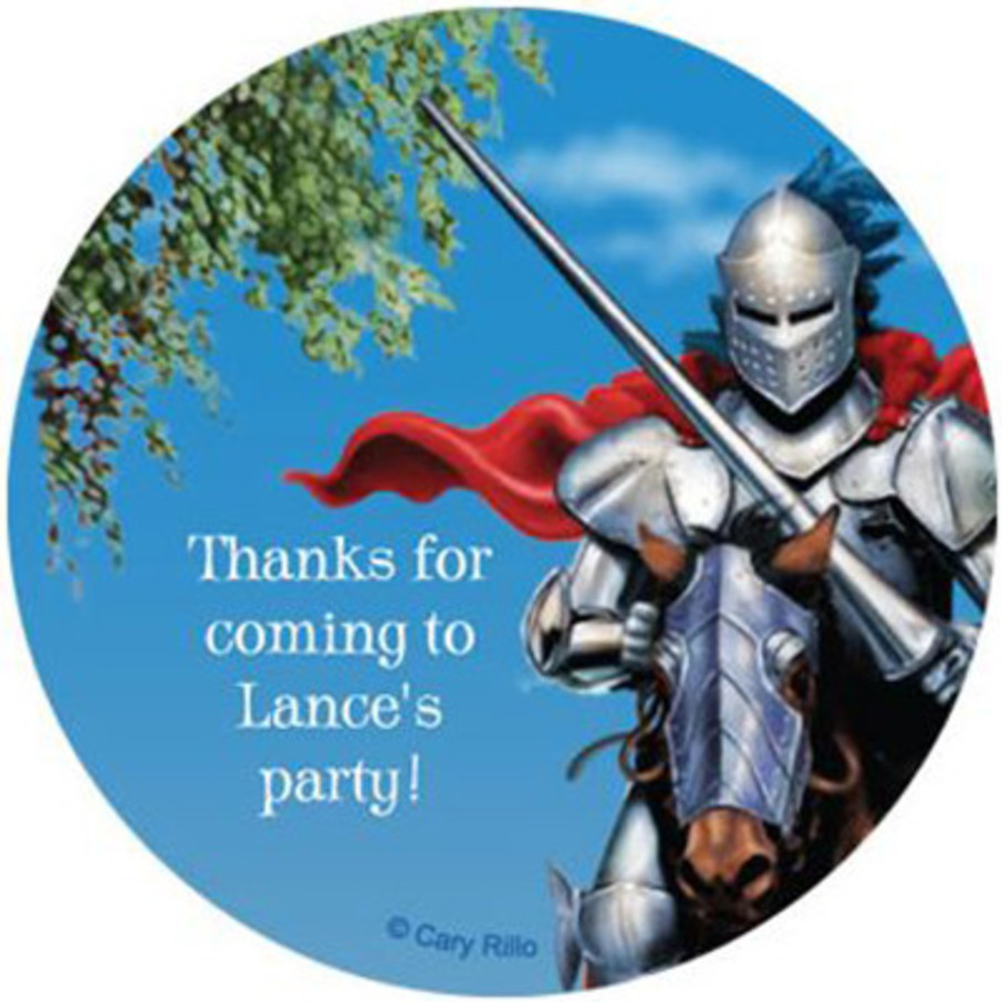 View larger image of Medieval Knight Personalized Stickers (sheet of 12)