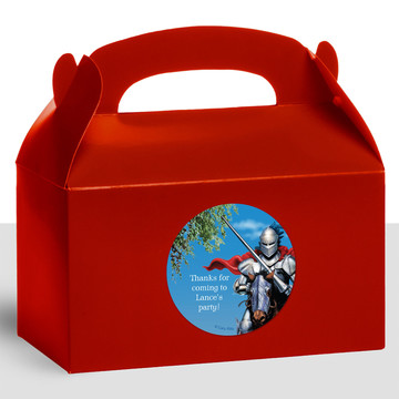 Medieval Knight Personalized Treat Favor Boxes (12 Count)