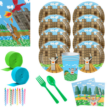 Medieval Party Deluxe Tableware Kit (Serves 8)