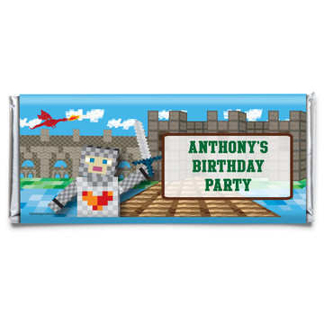 Medieval Pixels Personalized Candy Bar Wrapper (Each)