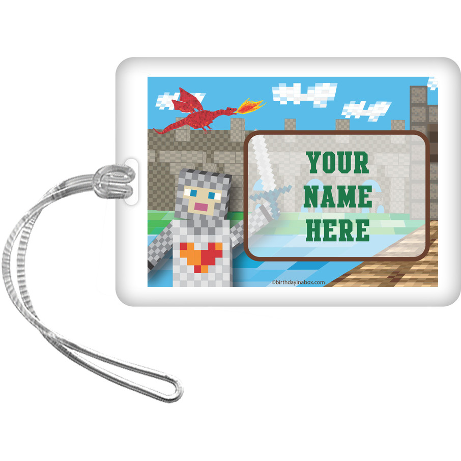 View larger image of Medieval Pixels Personalized Luggage Tag (Each)