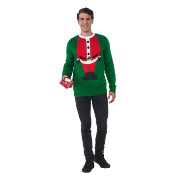 Men's Santa Head Christmas Sweater