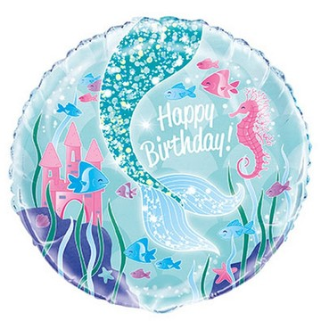 Mermaid 18 Foil Balloon Pkgd