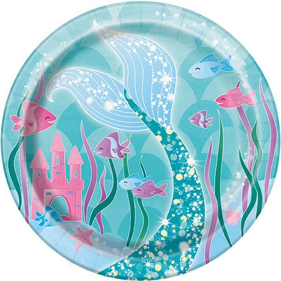 """View larger image of Mermaid 7"""" Dessert Plate (8)"""