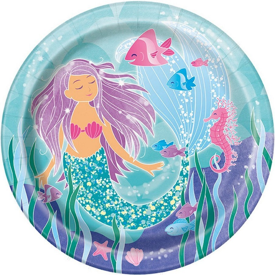 "View larger image of Mermaid 9"" Lunch Plate (8)"