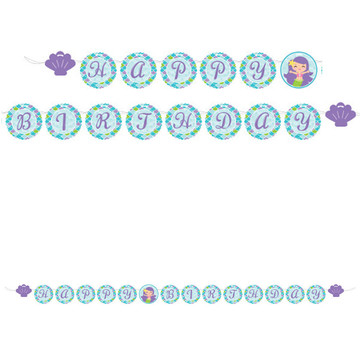 Mermaid Friends Ribbon Banner