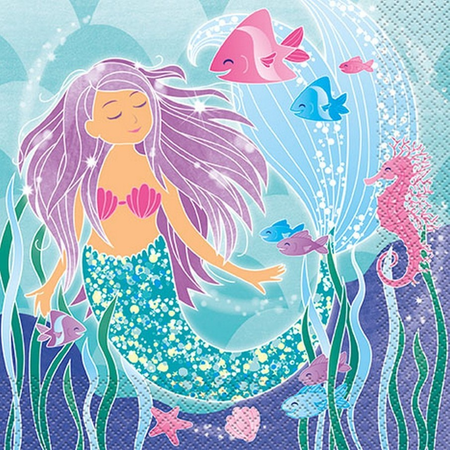View larger image of Mermaid Lunch Napkin (16)
