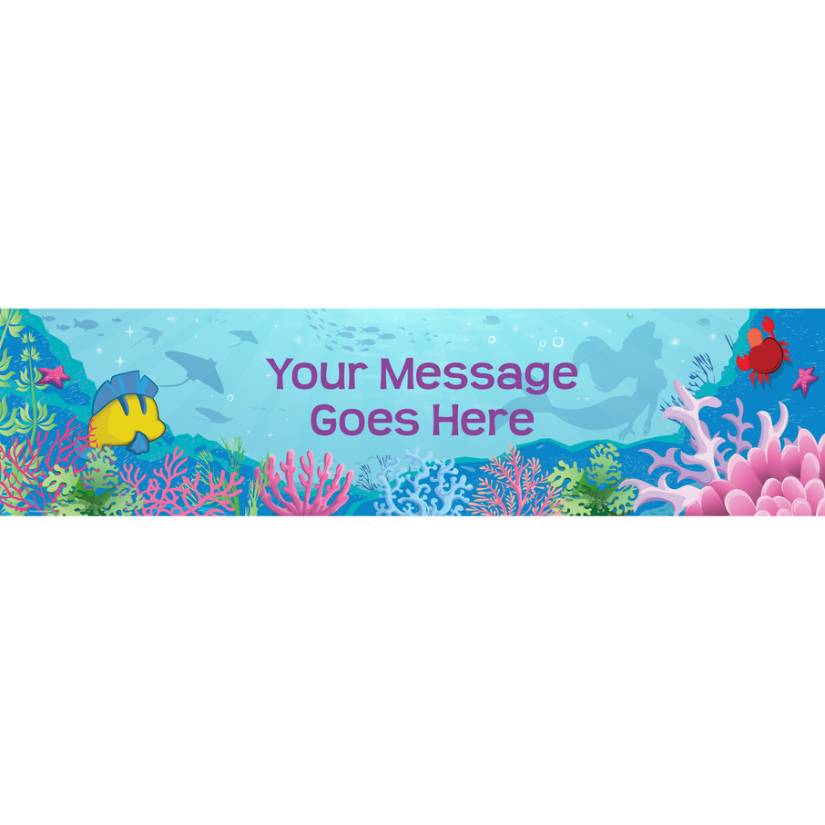 View larger image of Mermaid Personalized Banner (Each)