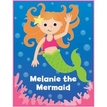 Mermaid Personalized Coloring Book (each)