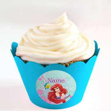 Mermaid Personalized Cupcake Wrappers (Set of 24)