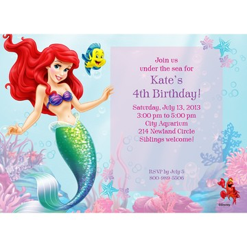Mermaid Personalized Invitation (Each)