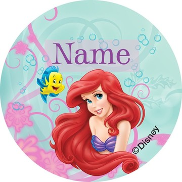 Mermaid Personalized Mini Stickers (Sheet of 24)