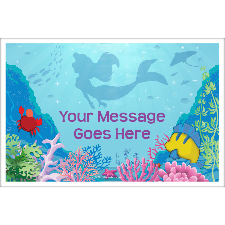 View larger image of Mermaid Personalized Placemat (Each)