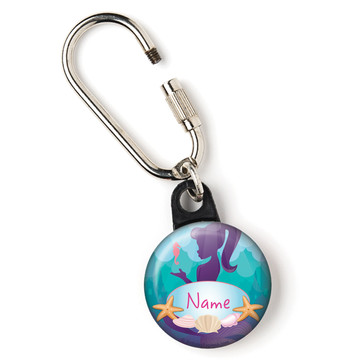 "Mermaid Under the Sea Personalized 1"" Carabiner (Each)"