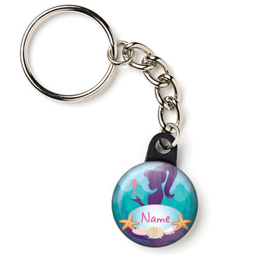 "Mermaid Under the Sea Personalized 1"" Mini Key Chain (Each)"