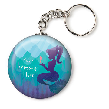 "Mermaid Under the Sea Personalized 2.25"" Key Chain (Each)"