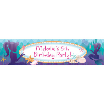 Mermaid Under the Sea Personalized Banner (Each)