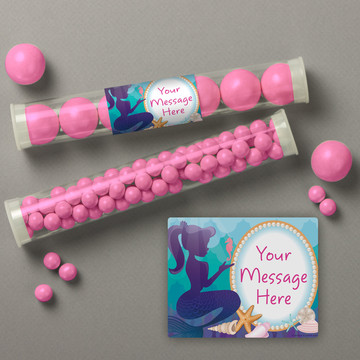 Mermaid Under the Sea Personalized Candy Tubes (12 Count)