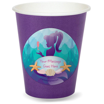 Mermaid Under the Sea Personalized Cups (8)