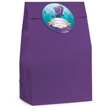 Mermaid Under the Sea Personalized Favor Bag (12 Pack)