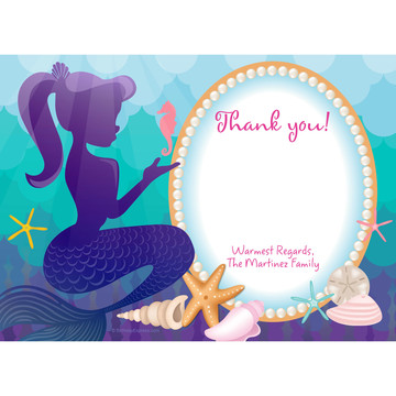 Mermaid Under the Sea Personalized Thank You (Each)