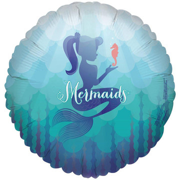 Mermaids Under the Sea Foil Balloon