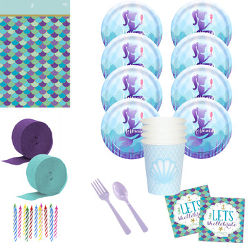 Mermaids Under the Sea Standard Deluxe Kit (Serves 8)