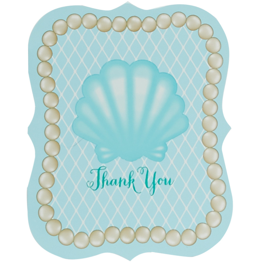 View larger image of Mermaids Under the Sea Thank You Notes (8)