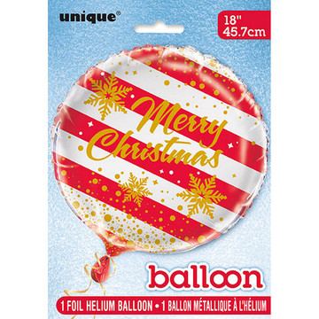 "Merry Christmas 18"" Snowflake Balloon (1)"