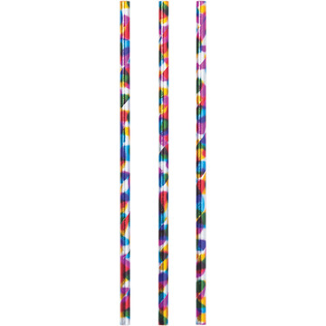 Metallic Rainbow Paper Straws (24)