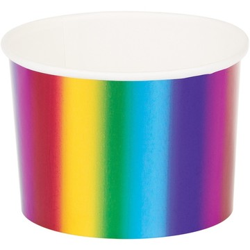 Metallic Rainbow Treat Cups (8)