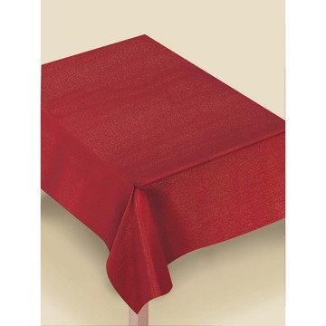 Metallic Red Luxury Fabric Table Cover